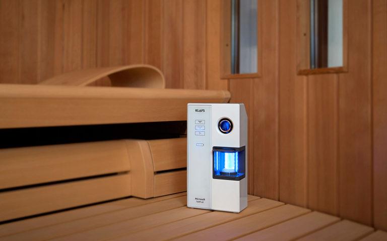 Microsalt SaltProX za solno sobo v savni - v uporabi