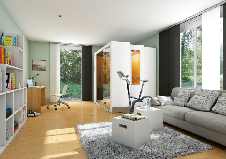 S1 zložljiva savna doma dnevna soba odprta savna