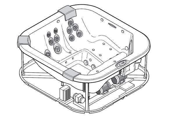 žični model masažnega bazena jacuzzi