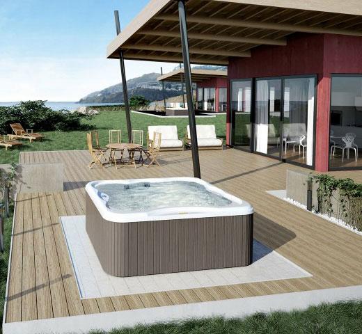 Jacuzzi Lodge M na terasi s pogledom